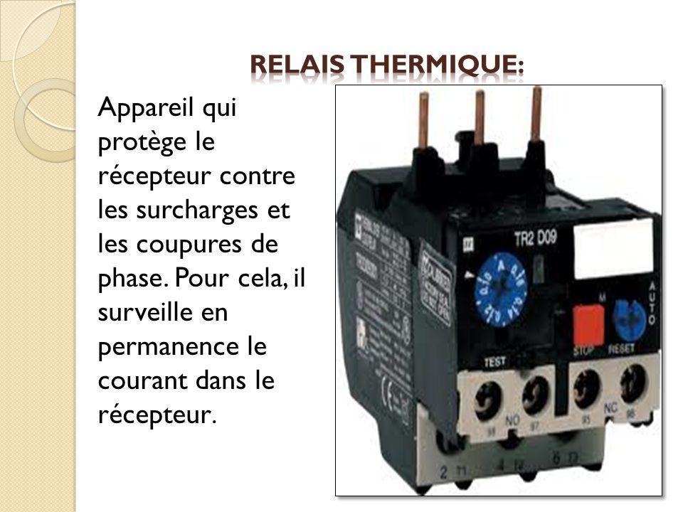 Appareil qui protège le récepteur contre les surcharges et les coupures de phase. Pour cela, il surveille en permanence le courant dans le récepteur.