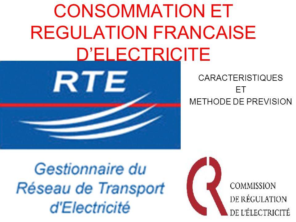 CONSOMMATION ET REGULATION FRANCAISE DELECTRICITE CARACTERISTIQUES ET METHODE DE PREVISION