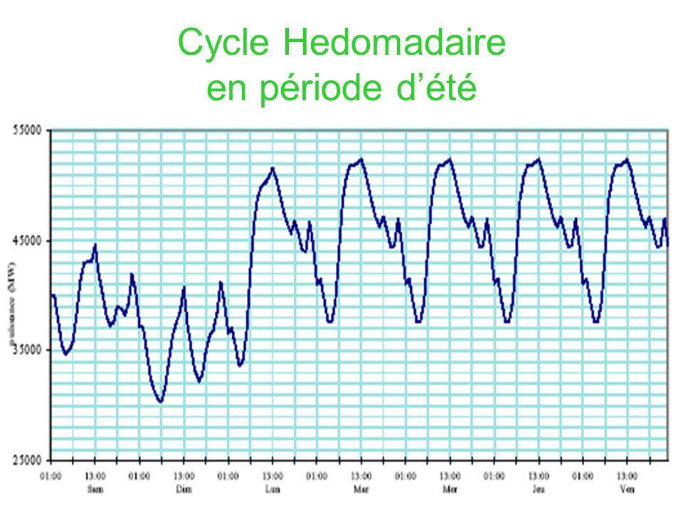 Cycle Hedomadaire en période dété