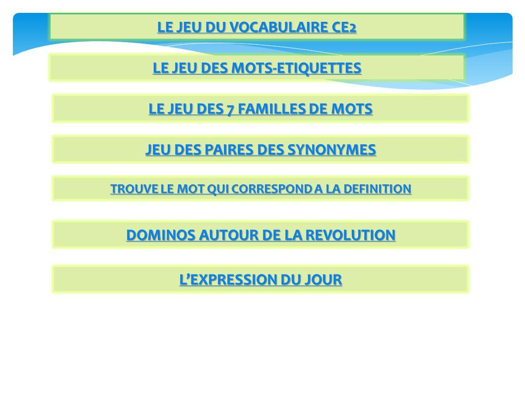 BIBLIOGRAPHIE-REFERENCES -http://netia59a.ac-lille.fr/~slilleouest/IMG/pdf/Supports_activites_vocabulaire_cycle_2_stag_nov_2009.pdf -http://netia59a.ac- lille.fr/ienlilleest/IMG/pdf/diaporama_PRESENTATION_lexique_cycle_2_animation_novembre_2009.pdf -http://pagesperso-orange.fr/blsmcpce1/vocablexique.html -Les livres listés ci-dessous sont regroupés pour attirer lattention sur leurs caractéristiques lexicales http://litterature.iahautevienne.ac-limoges.fr/spip.php?article101 -Un jour, un mot cycles 2 et 3 : plus de 100 ateliers quotidiens Renée LEON HACHETTE -Le juste mot ACCES -T.F.L.