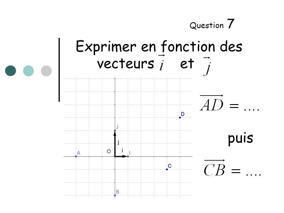 ABCD est un parallélogramme de centre O Question 8