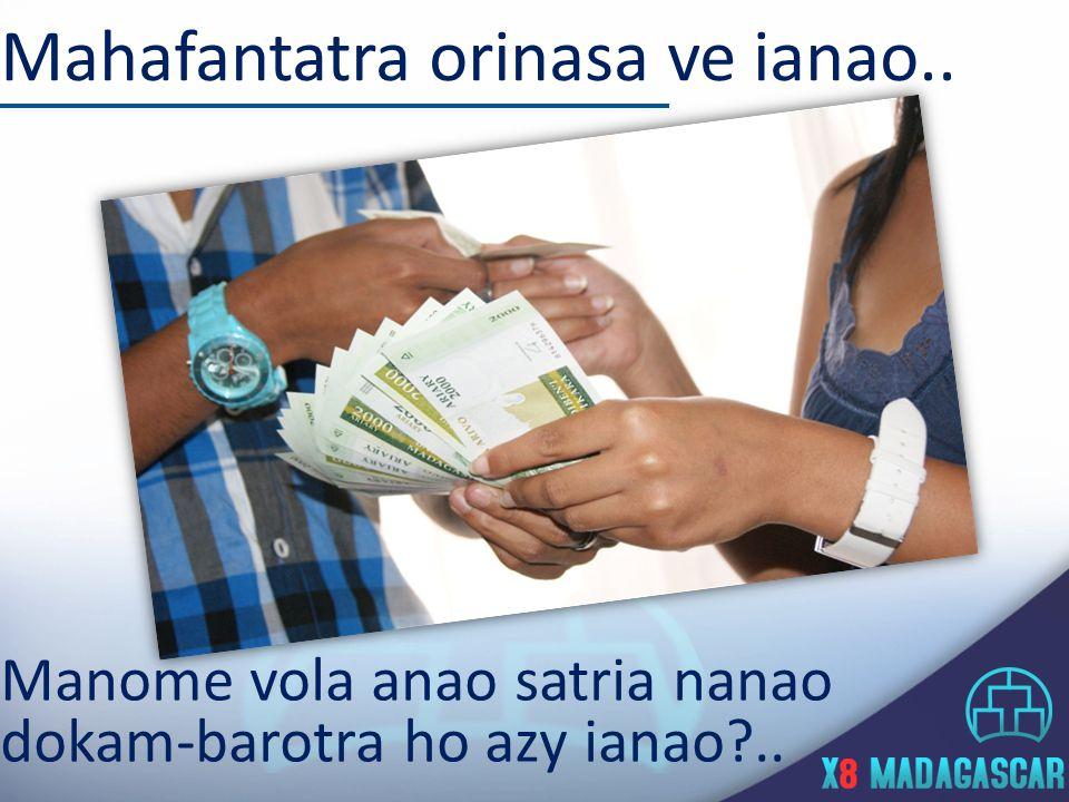 VERSEMENT DES COMMISSIONS Frais de tenu de compte 500.000 Ar : Le système se paiera sur vos gains Vous ne sortirez de votre poche que le frais douverture de compte.