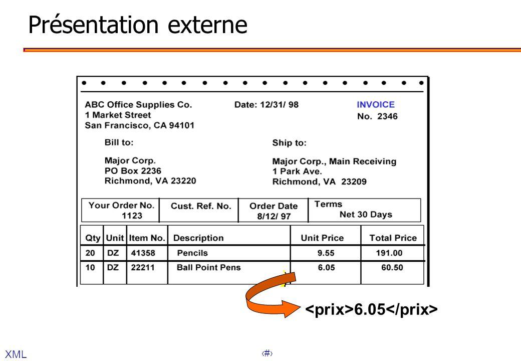 27 Présentation externe 6.05 XML