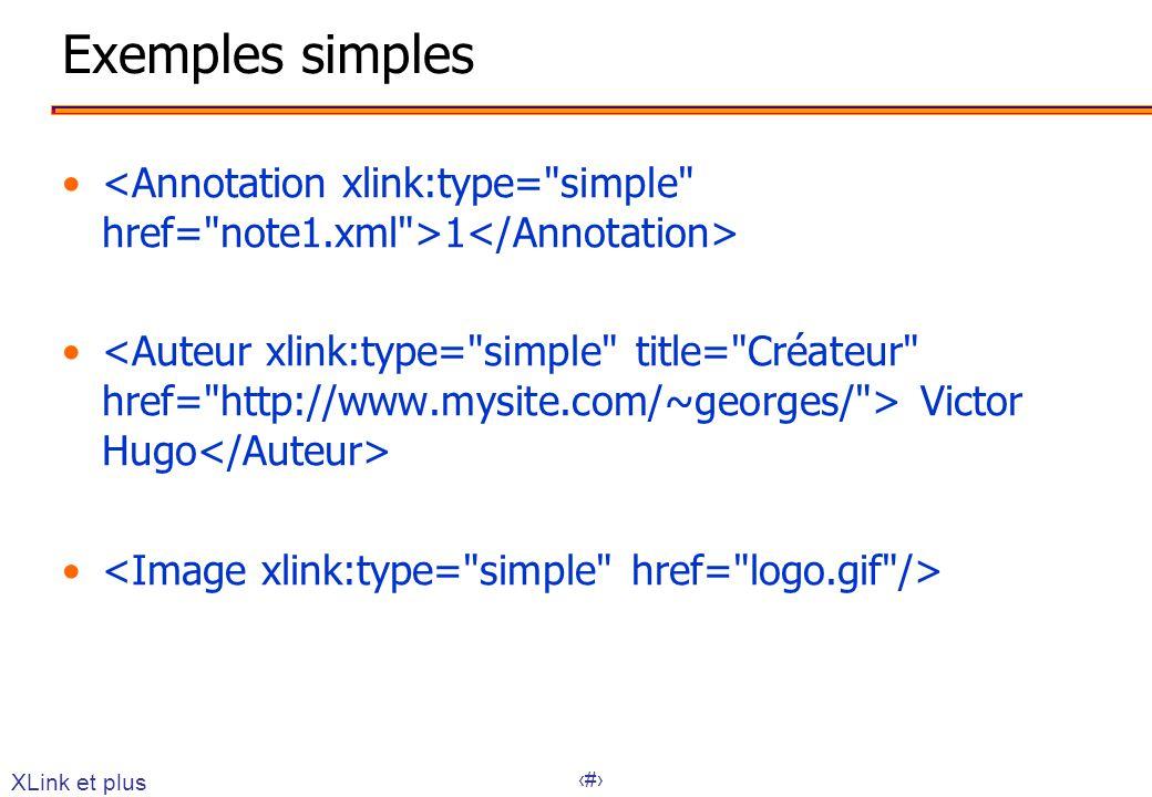 30 Exemples simples 1 Victor Hugo XLink et plus