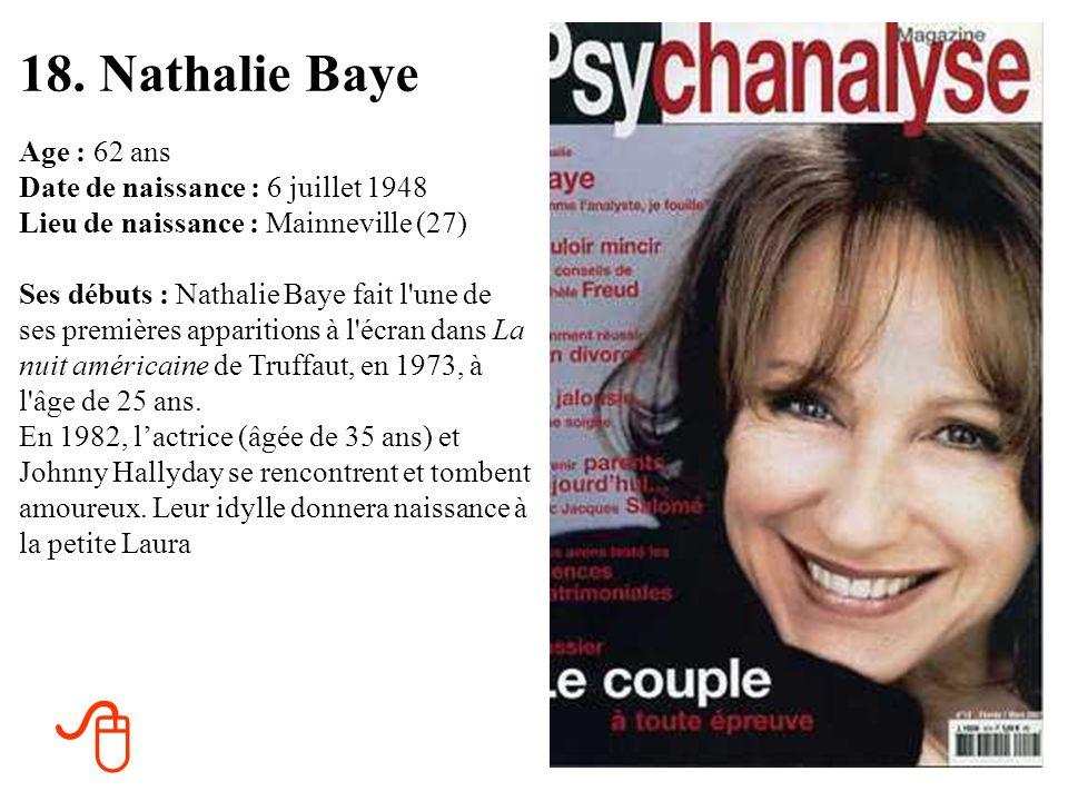 17. Elizabeth Taylor Age : 78 ans Date de naissance : 27 février 1932 Lieu de naissance : Hampstead, Angleterre Ses débuts : En 1943, à 11 ans, Elizab