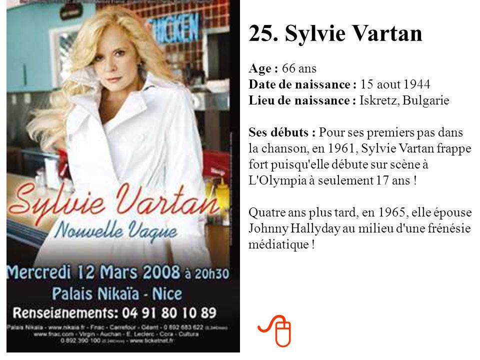 24. Isabelle Adjani Age : 55 ans Date de naissance : 27 juin 1955 Lieu de naissance : Paris (75) Ses débuts : Isabelle Adjani se fait remarquer dans L