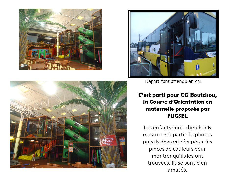 Cest parti pour CO Boutchou, la Course dOrientation en maternelle proposée par lUGSEL Les enfants vont chercher 6 mascottes à partir de photos puis il