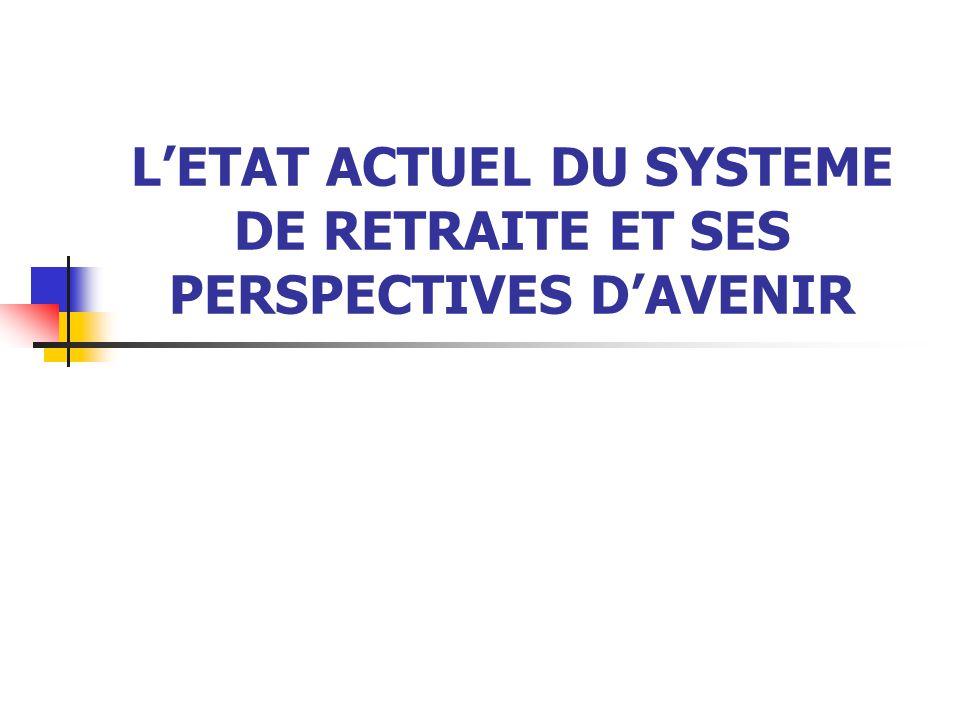 LETAT ACTUEL DU SYSTEME DE RETRAITE ET SES PERSPECTIVES DAVENIR