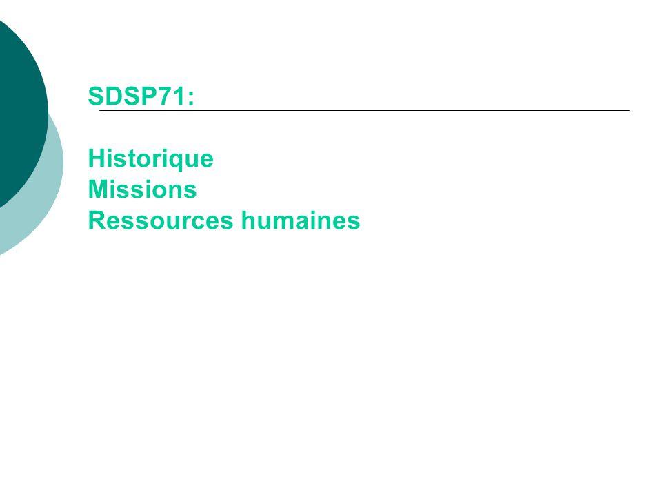 SDSP71: Historique Missions Ressources humaines
