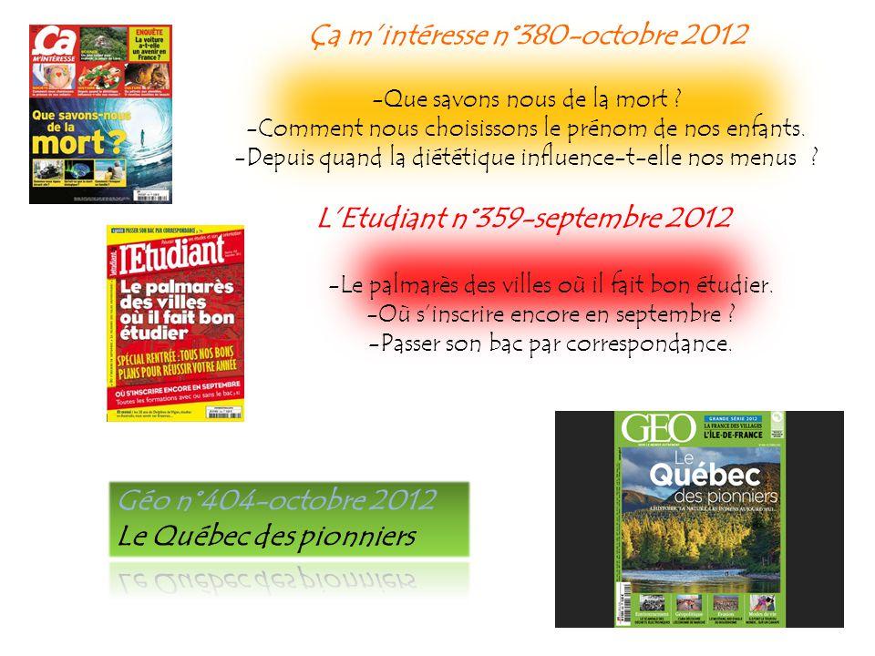 Lire n°409-octobre 2012 Spécial Romans étrangers Entretien : comment jécris, par Jean Echenoz.