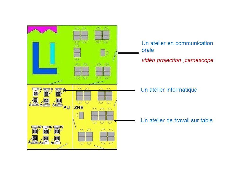 Un groupe « contacter le client ou lusager » Un groupe « accueil et information de lusager » en atelier vente vidéo projection et rétroprojecteur