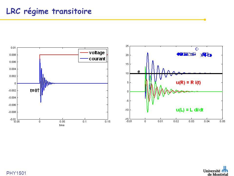 LRC régime transitoire PHY1501