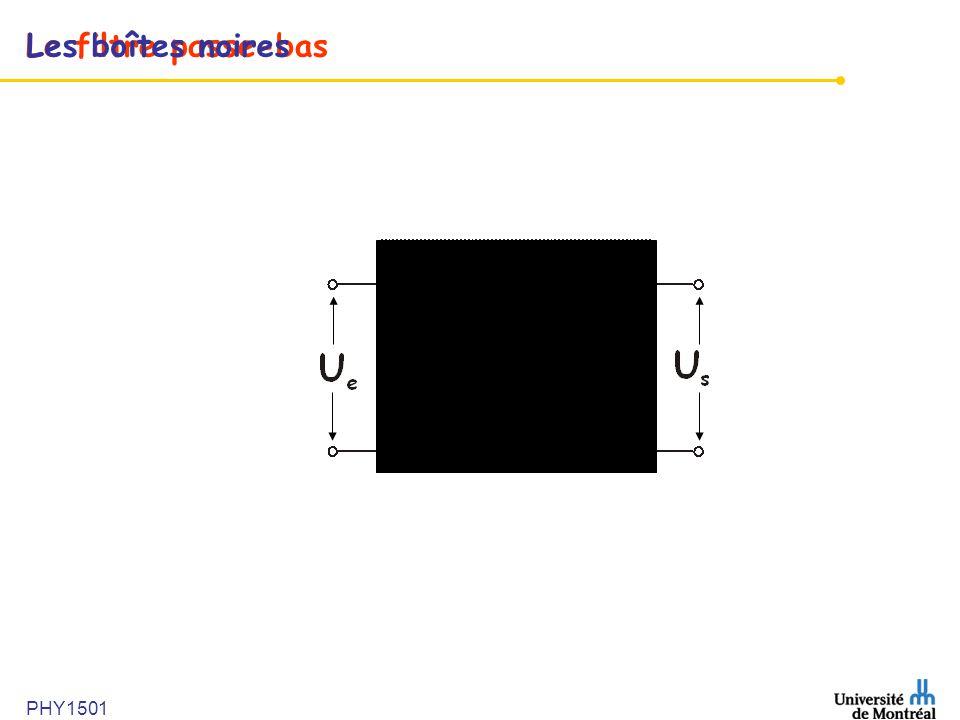 Le filtre passe-basLes boîtes noires