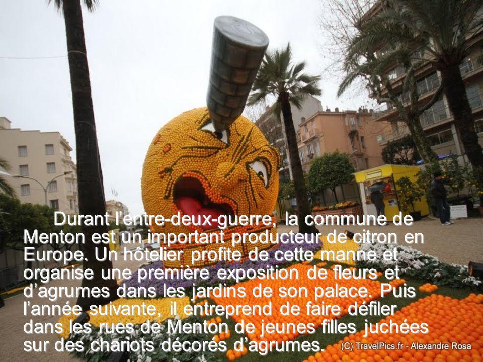 Durant lentre-deux-guerre, la commune de Menton est un important producteur de citron en Europe.