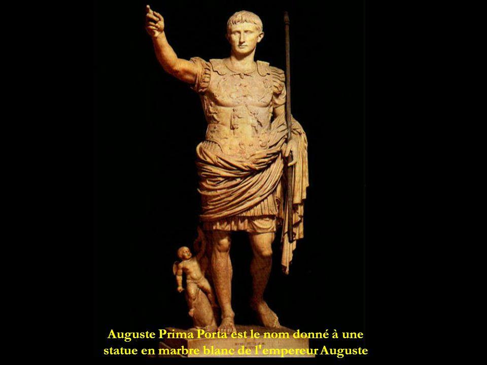 Auguste Prima Porta est le nom donné à une statue en marbre blanc de l'empereur Auguste