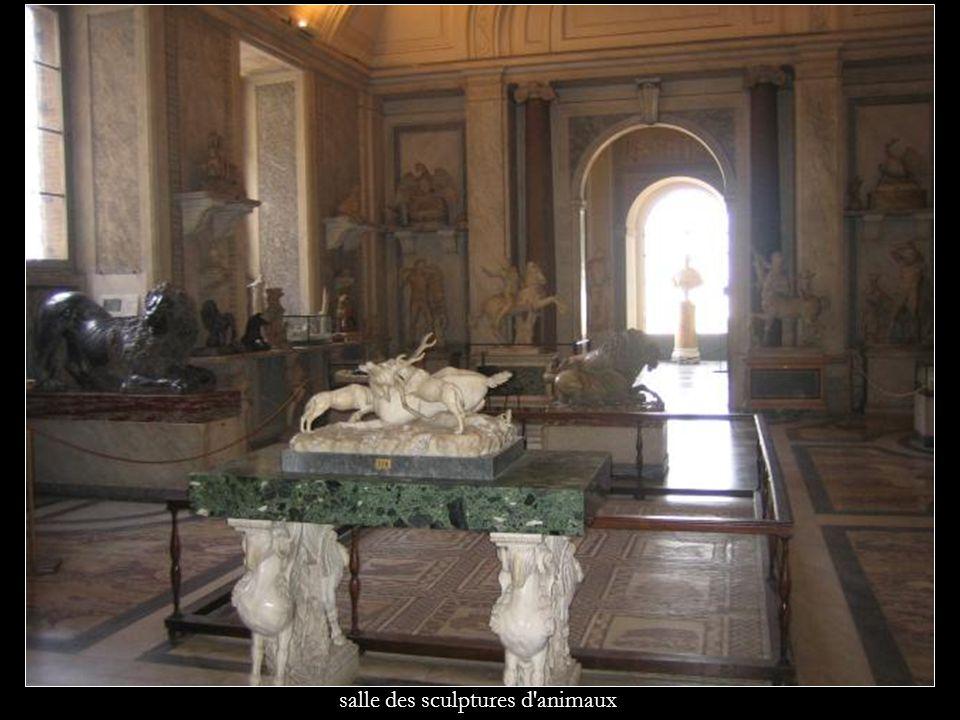 salle des sculptures d'animaux
