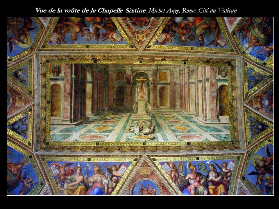 Vue de la voûte de la Chapelle Sixtine, Michel-Ange, Rome, Cité du Vatican