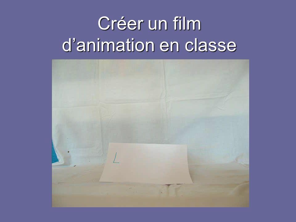 Créer un film danimation en classe
