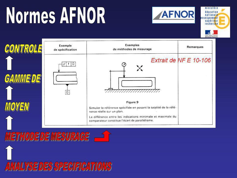 Extrait de NF E 10-106