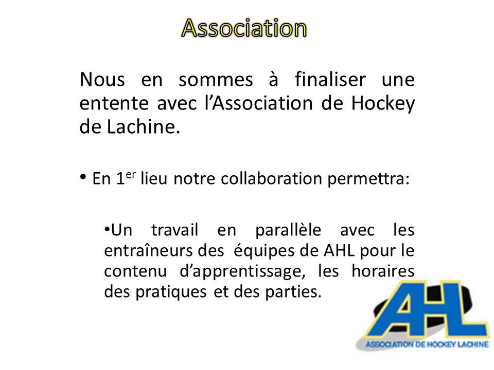Le montant demandé sert à assumer les frais de fonctionnement du programme de hockey qui comprend : Un encadrement par un ou des entraîneurs pour les entraînements sur glace et hors glace, ainsi que pour les parties.