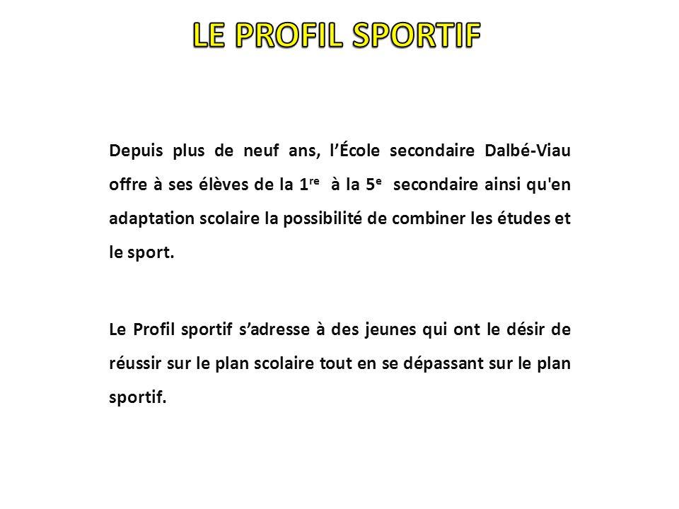 Inscrire lélève à lécole. Compléter le contrat dinscription du Profil sportif.