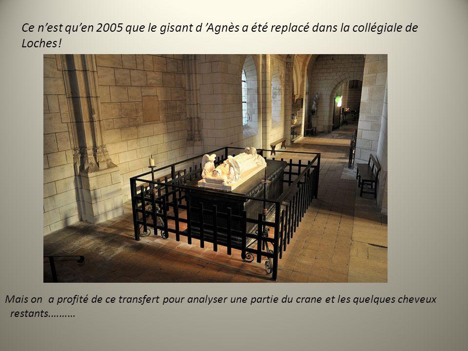 Ces tombeaux subiront nombre de vicissitudes. Agnès avait grandement contribué par ses dons aux constructions et biens de lEglise. Mais celle-ci le lu