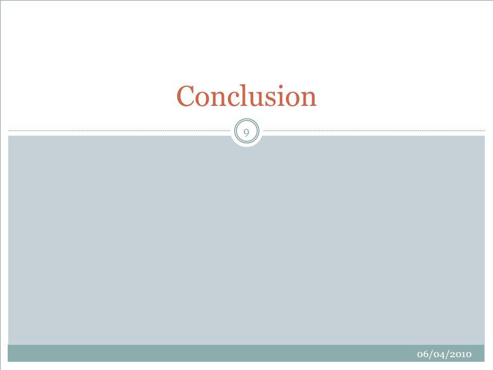 9 Conclusion