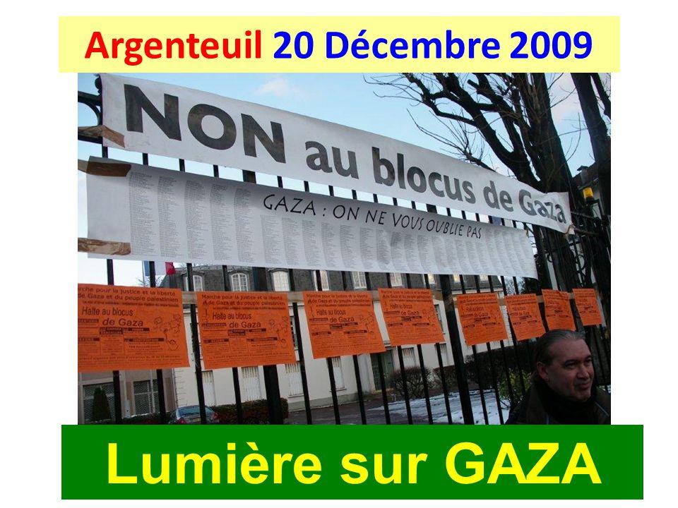 Argenteuil 20 Décembre 2009 Lumière sur GAZA