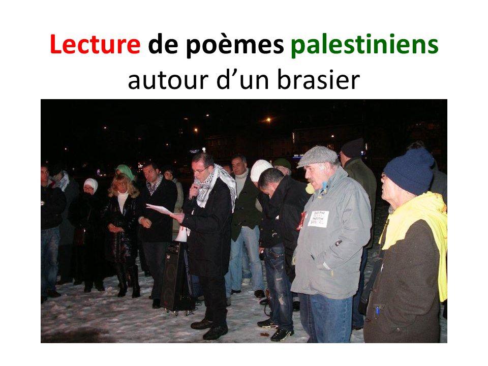 Lecture de poèmes palestiniens autour dun brasier
