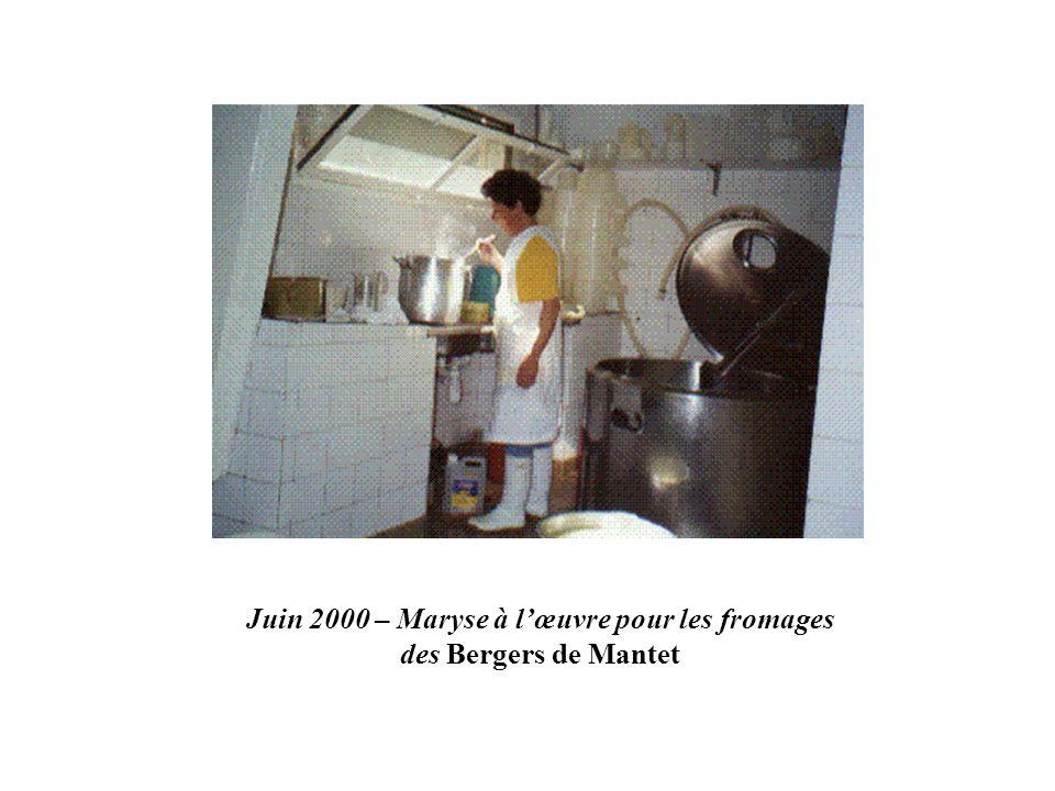 Juin 2000 – Maryse à lœuvre pour les fromages des Bergers de Mantet