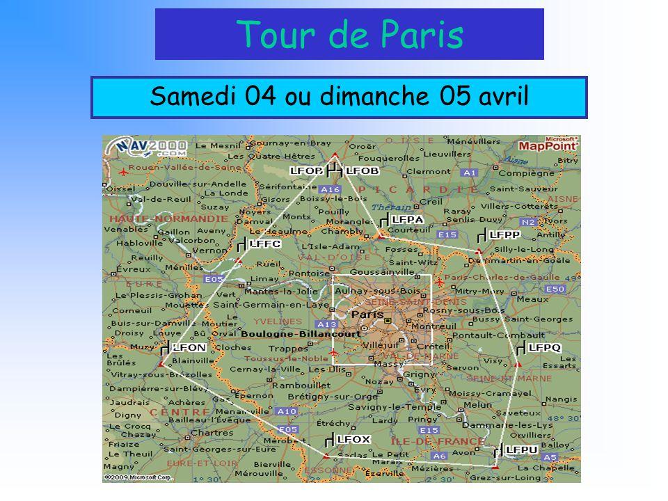 Tour de Paris Samedi 04 ou dimanche 05 avril
