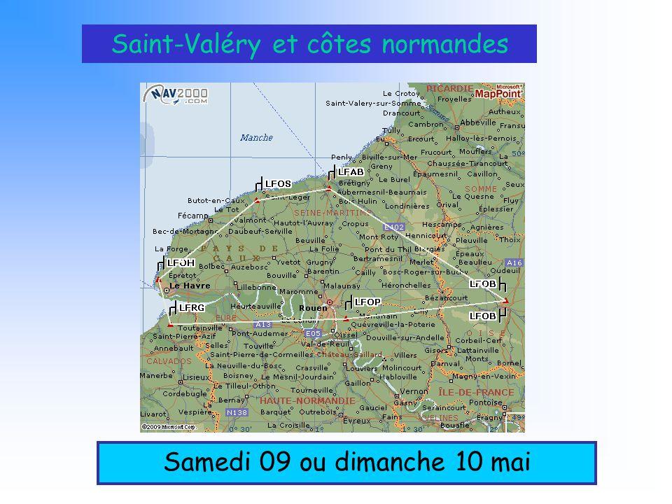 Saint-Valéry et côtes normandes Samedi 09 ou dimanche 10 mai