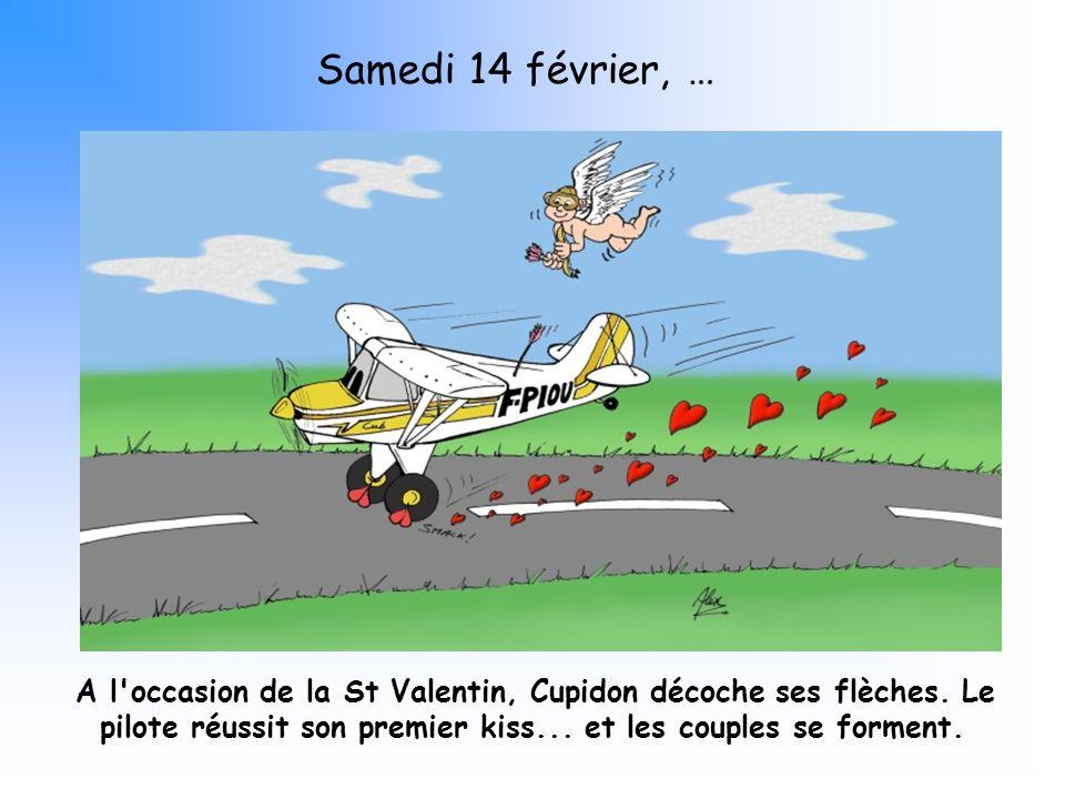 A l'occasion de la St Valentin, Cupidon décoche ses flèches. Le pilote réussit son premier kiss... et les couples se forment. Samedi 14 février, …