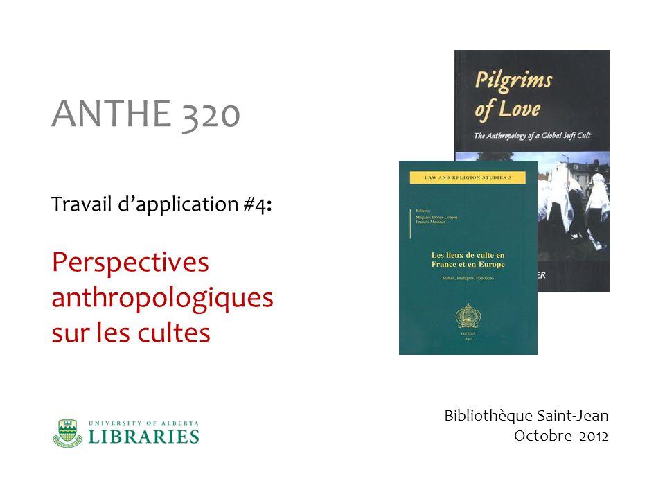 Recherche dans les bases de données Nous allons commencer notre recherche à partir du guide de recherche en Anthropologie Nous allons commencer notre recherche à partir du guide de recherche en Anthropologie