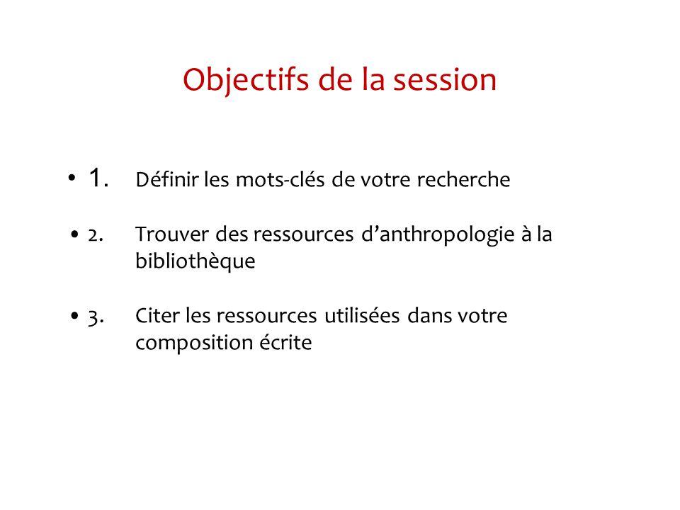 Guide de ressources - Anthropologie Sous longlet Trouver des articles, vous pouvez accéder aux différentes bases de données Sous longlet Trouver des articles, vous pouvez accéder aux différentes bases de données