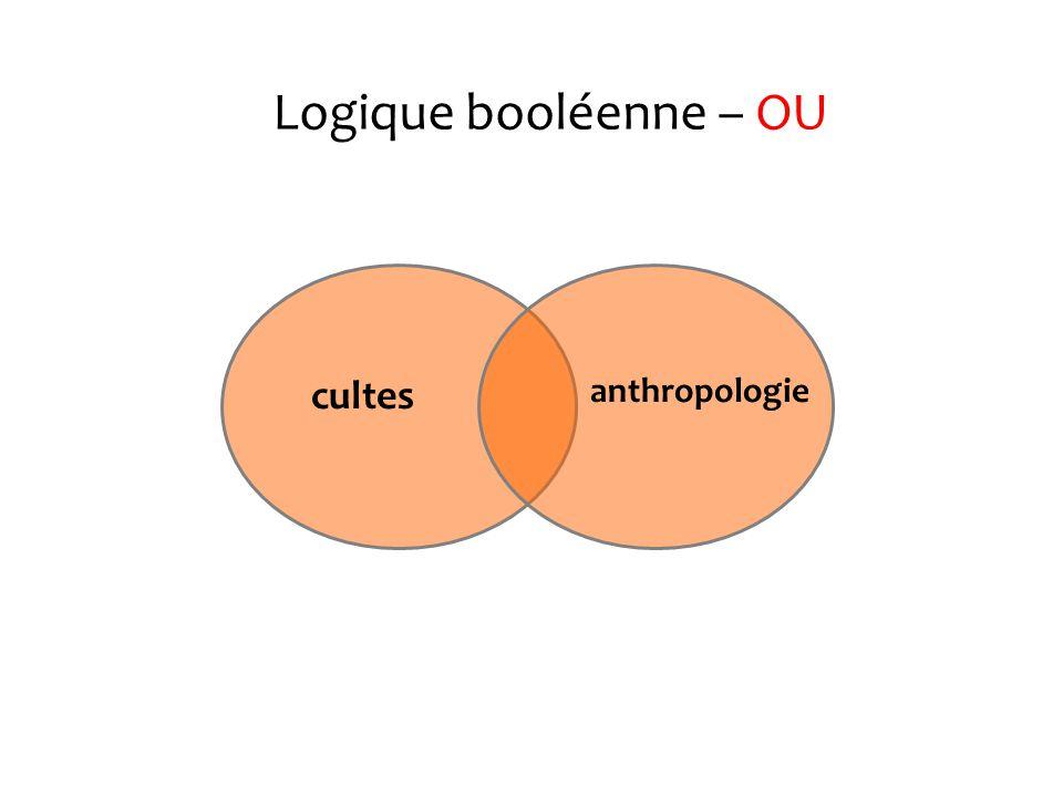 Logique booléenne - ET cultes anthropologie