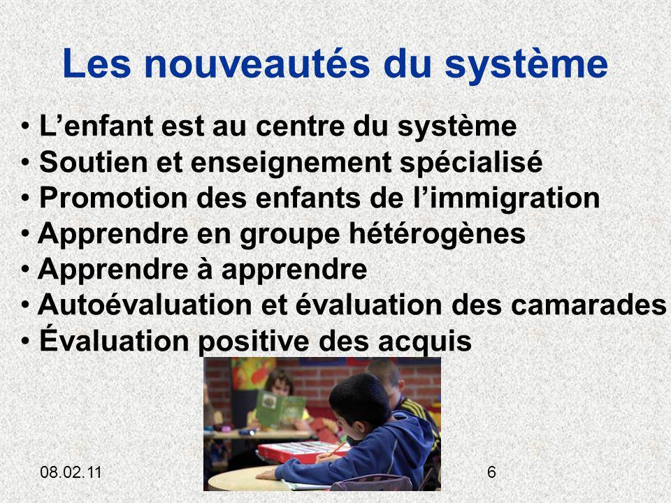 08.02.11Cl.Anttila6 Les nouveautés du système Lenfant est au centre du système Soutien et enseignement spécialisé Promotion des enfants de limmigratio