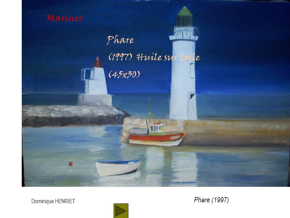 Dominique HENRIET Marines Barques au port (2001) Huile sur toile (60x45) Barques au port (2001)