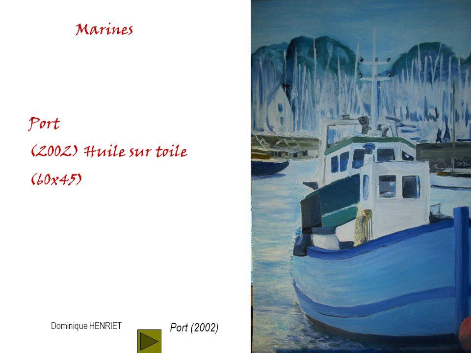Dominique HENRIET Marines Phare (1997) Huile sur toile (45x30) Phare (1997)
