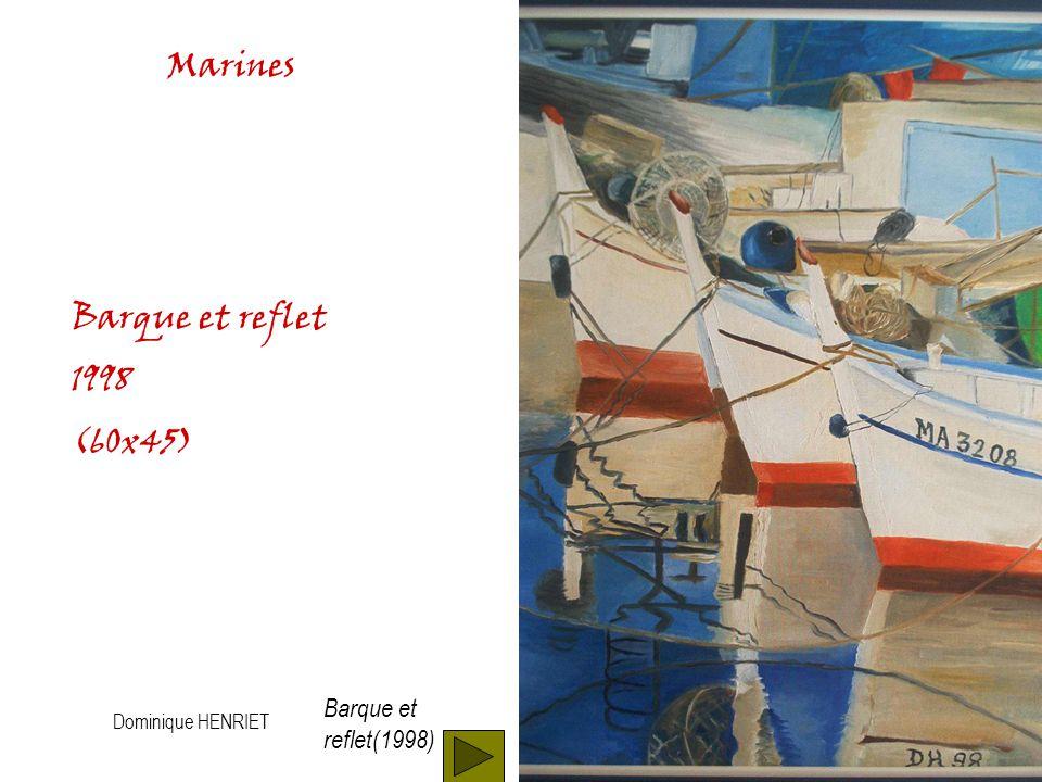 Dominique HENRIET Marines vague (1999) Huile sur toile (60x45) Vague (1999)