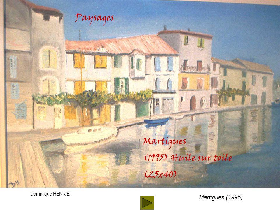 Dominique HENRIET Paysages Martigues (1995) Huile sur toile (25x40) Martigues (1995)