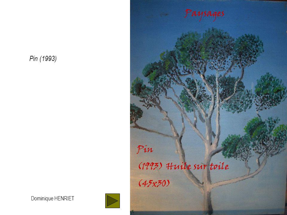 Dominique HENRIET Paysages Rade sud, la nuit (1994) Huile sur toile (30x45) Rade sud, la nuit (1994)