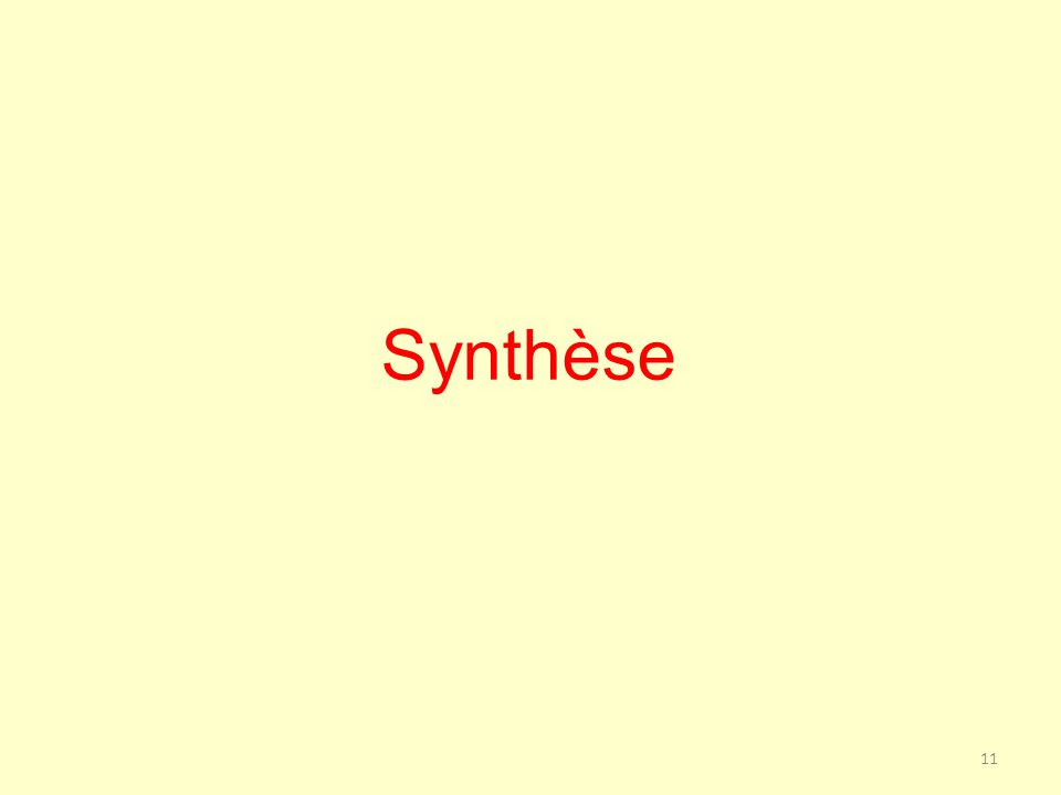 Synthèse 11