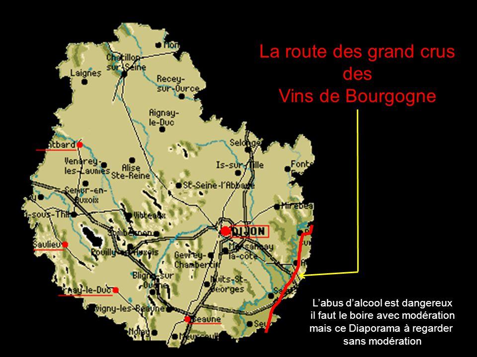 La route des grand crus des Vins de Bourgogne Labus dalcool est dangereux il faut le boire avec modération mais ce Diaporama à regarder sans modération