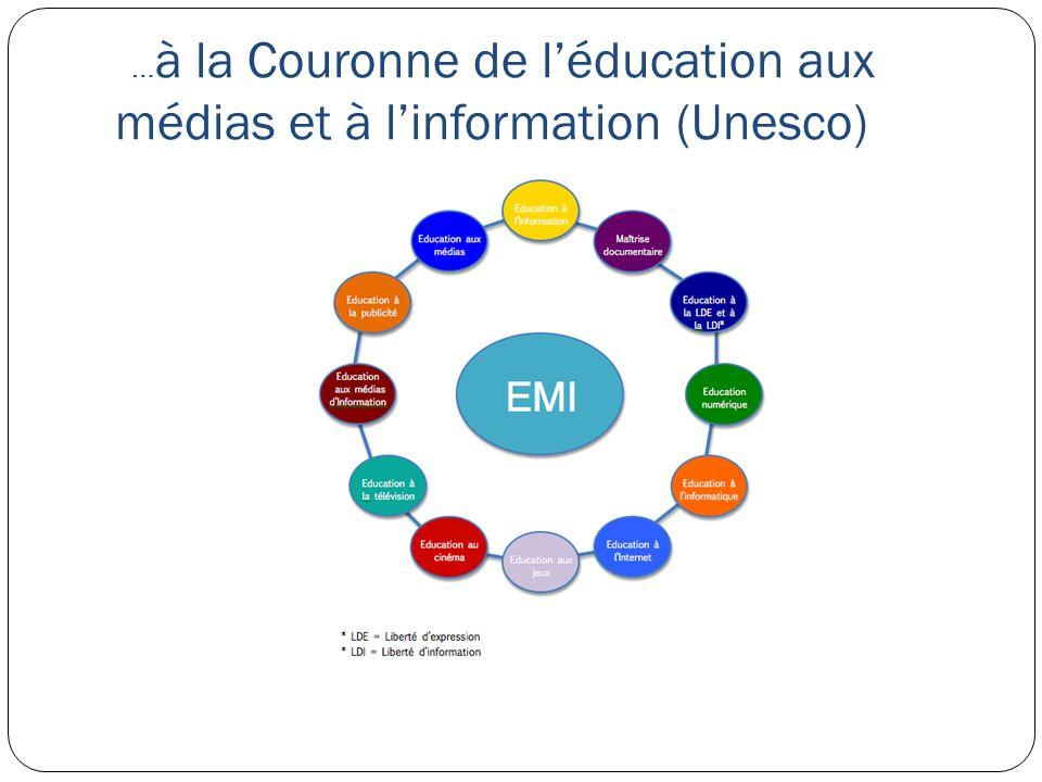 … à la Couronne de léducation aux médias et à linformation (Unesco)