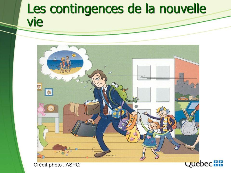 12 Les contingences de la nouvelle vie Crédit photo : ASPQ