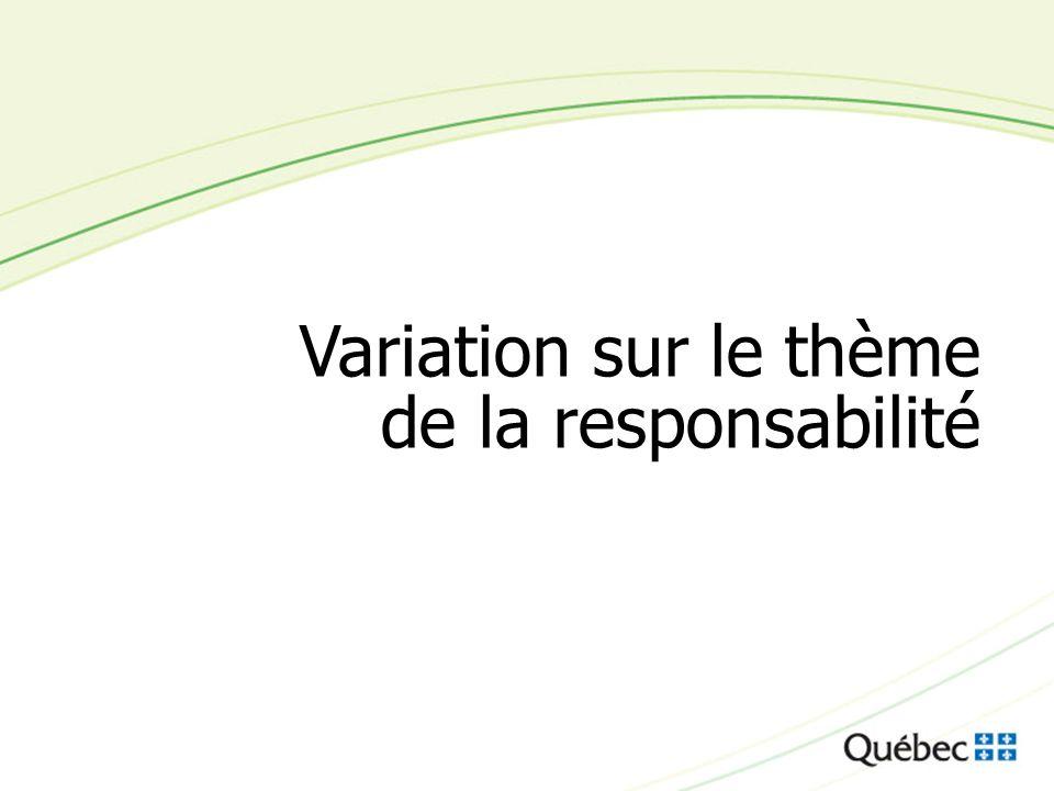 15 Variation sur le thème de la responsabilité
