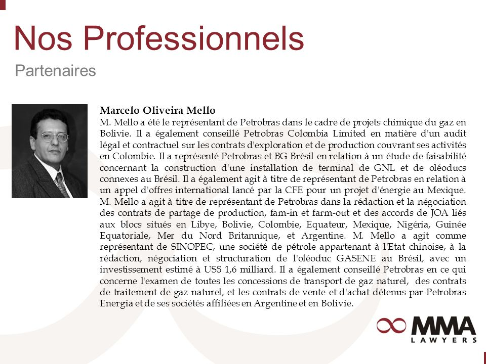 Nos Professionnels Partenaires Marcelo Oliveira Mello M.
