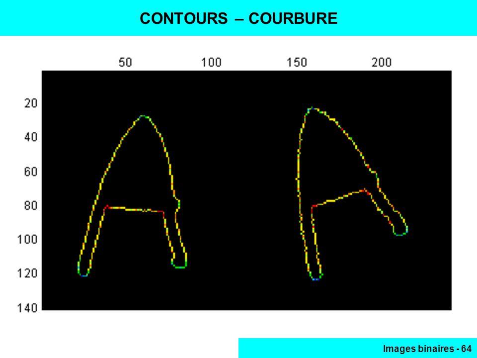 Images binaires - 64 CONTOURS – COURBURE