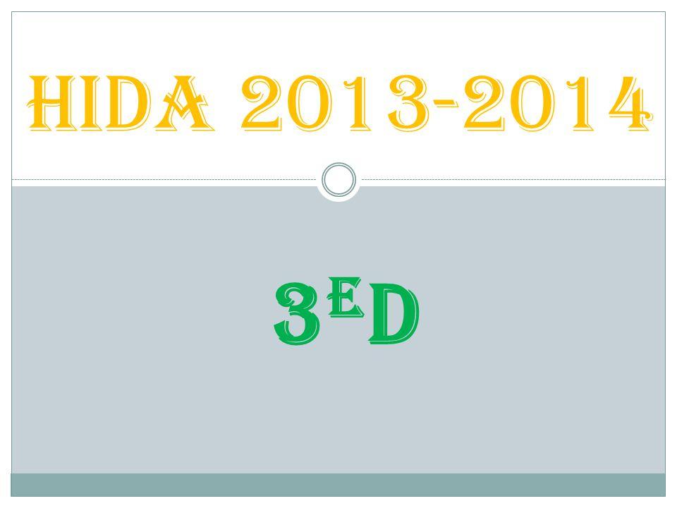 3ED3ED HIDA 2013-2014